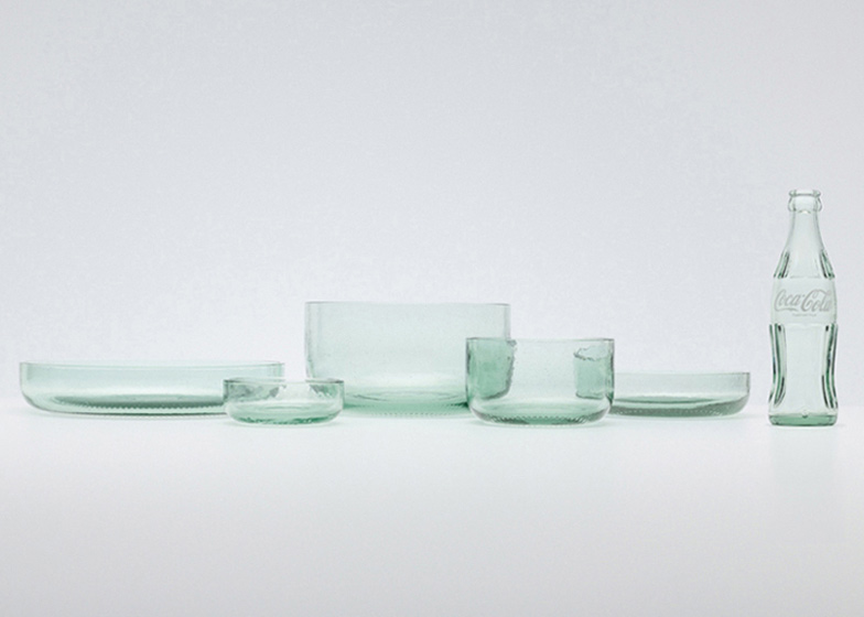 Bottleware by Nendo for Coca Cola Photographs are courtesy of Coca-Cola