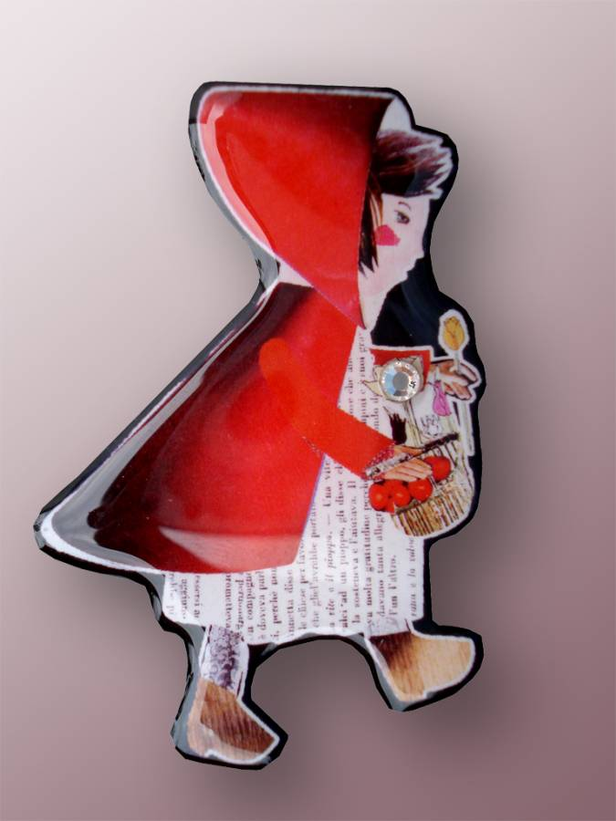 ORTIZ-GADLER  C'ERA UNA VOLTA - Red Riding Hood brooch